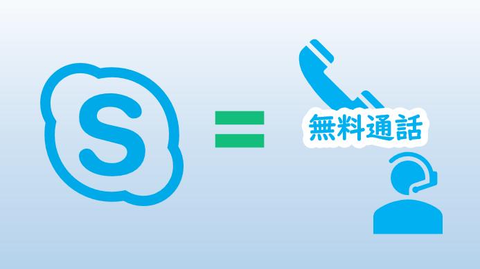 Skypeは無料通話が欲しい人必見